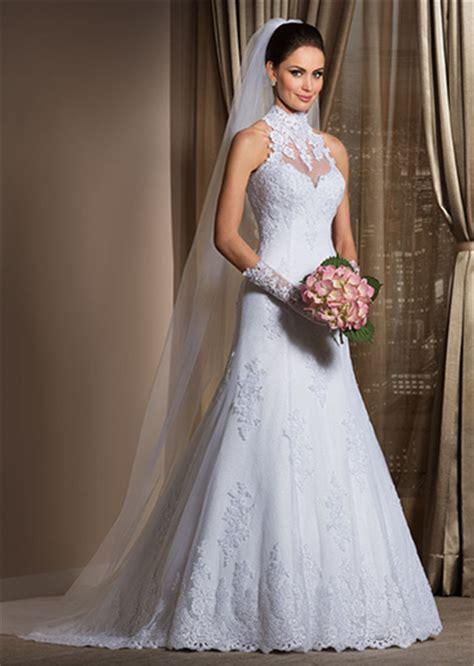 Gorgeous A Line High Neck Wedding Dress Cheap Lace Sheer Sleeveless Sheath Bridal Gowns A Line