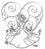 Princess Coloring Pages Disney Valentine Sleeping Beauty Sheets Aurora Colouring Printable Belle Happy Boyama Cartoon Princesses Prenses Featuring Valentines Adult sketch template