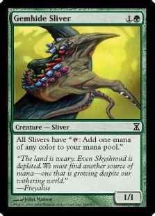 mtg sliver deck modern gemhide sliver magic card