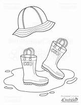 Coloring Printable Rain Hat Rainboots Pages Boots Preschool Crafts Umbrella Template Colouring Clipart Printablecuttablecreatables Printables March Spring Toddler Craft Scrapbook sketch template