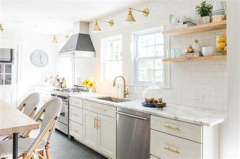 White Kitchen Gold Eye by White And Gold Kitchen With Bertazzoni Range
