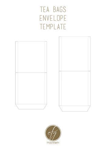 printable tea bag envelopes envelopes template