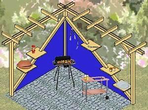 Bauanleitung pergola als windschutz sichtschutz und for Feuerstelle garten mit balkon sonnenschutz sonnensegel sichtschutz windschutz