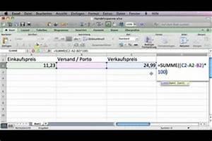 Alter In Excel Berechnen : video handelsspanne berechnen mit formel in excel ~ Themetempest.com Abrechnung
