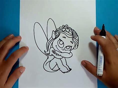 como dibujar  hada paso  paso   draw  fairy