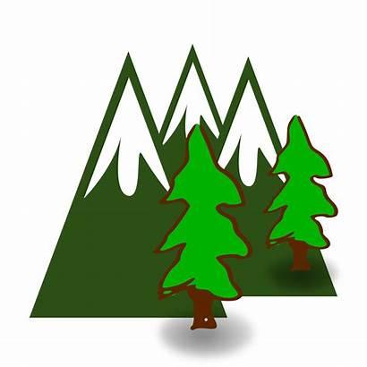 Clipart Mountains Mountain Waterfall Appalacian Transparent Evergreen