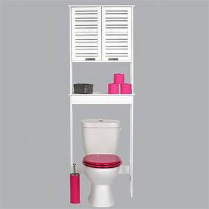 Salle De Bain Cosy : meuble dessus wc cosy blanc eminza ~ Dailycaller-alerts.com Idées de Décoration