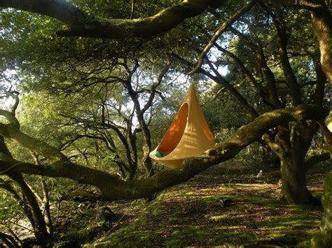 Caccoon Hammock by Wordlesstech Cacoon Hanging Tree House