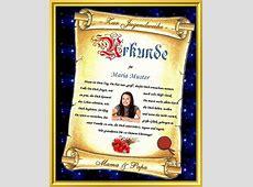 Urkunde als Geschenk zur Jugendweihe