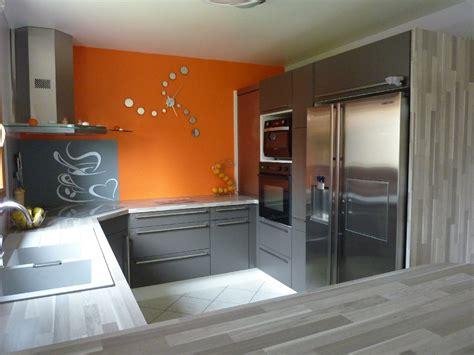 cuisine en orange deco cuisine moderne