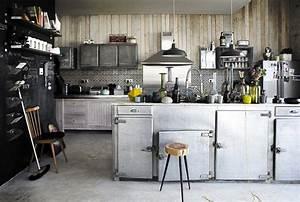 Meuble Cuisine Style Industriel : cuisine au style industriel les 8 d tails qui changent tout ~ Teatrodelosmanantiales.com Idées de Décoration