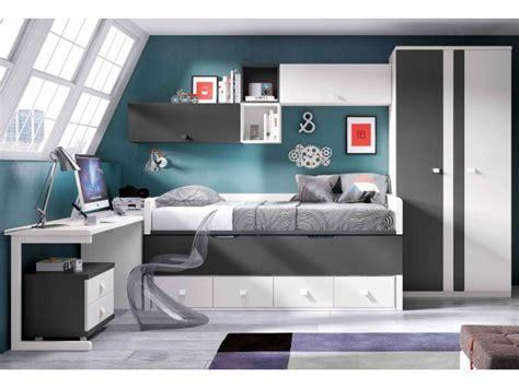 chambre avec lit noir chambre pour ado ultra compacte avec lit gigogne