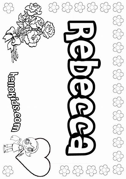 Coloring Rebecca Pages Names Hellokids Becci Sheets