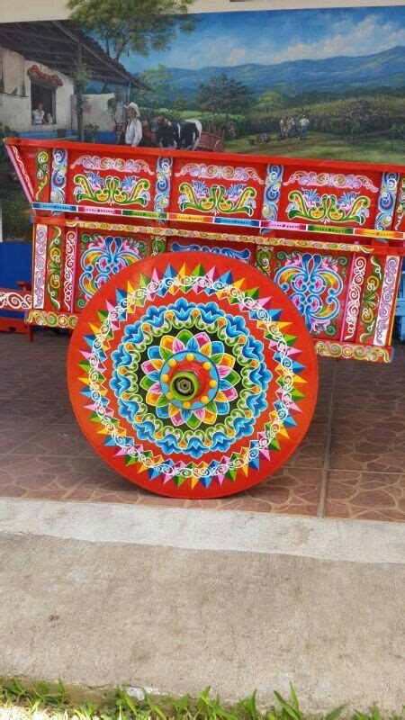 Hand Painted Ox Cart from Sarchi Costa Rica We watched a