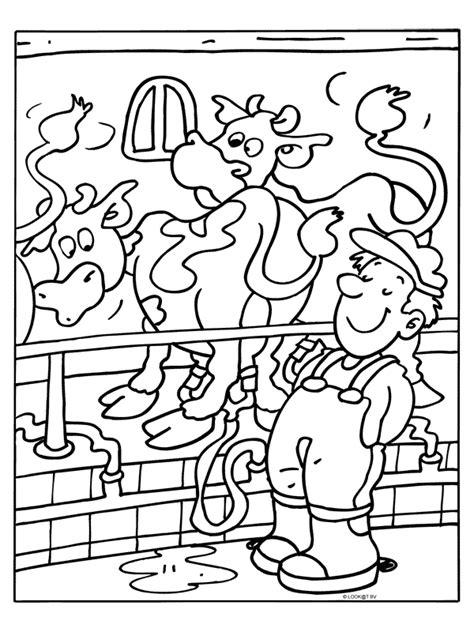 Kleurplaat Koe Melken by Pin Boer Kleurplaat On