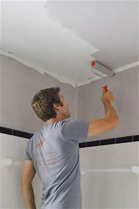 painting the bathroom young house love With steps to paint your bathroom ceiling