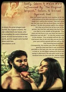 "Adam & Eve Were Influenced By ""The Original Serpent ..."