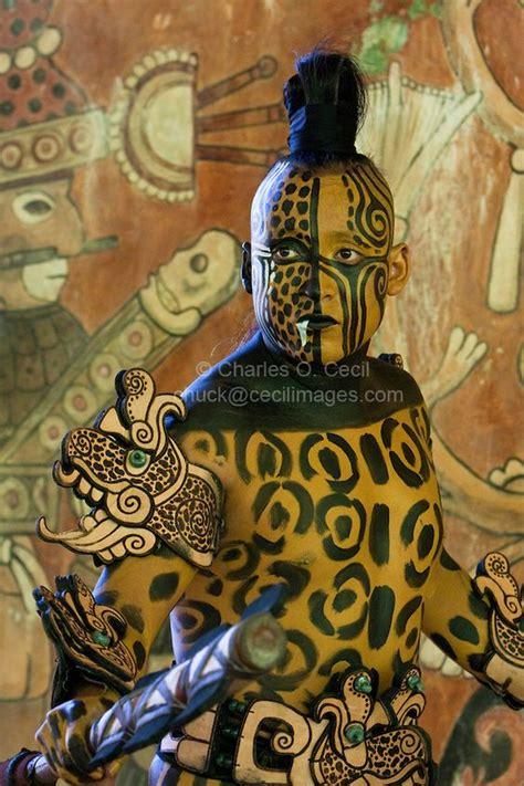 mayan dancer representing ek balam jaguar  warrior