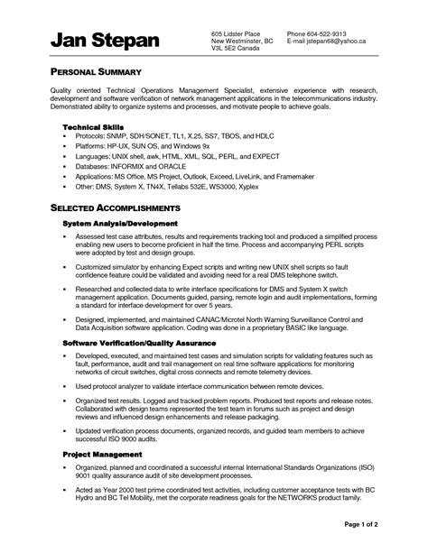 functional summary for resume 28 images resume summary
