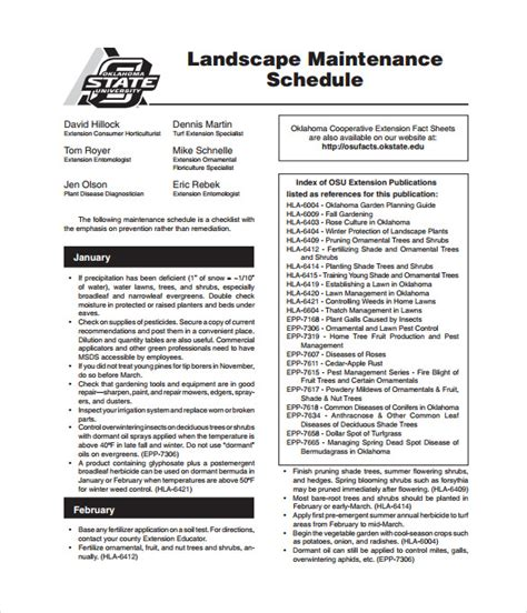 lawn maintenance schedule template maintenance schedule templates 35 free word excel pdf format free premium