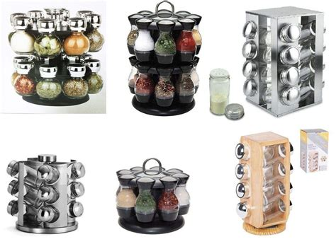 Rotating Spice Holder by Rotating Revolving Spice Rack Stand Carousel 8 12 16