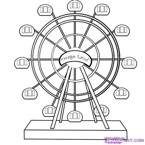 ferris wheel coloring pages   draw  ferris wheel