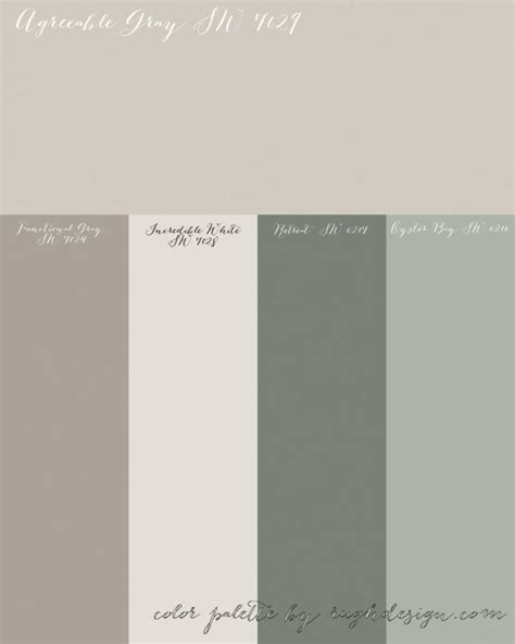 agreeable gray sw    complementary color scheme colors  compliment grey