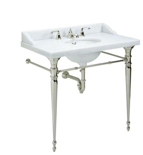 console bathroom sinks with chrome legs kallista chrome for country by michael s smith console