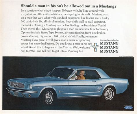 cool  hell vintage ford mustang ads airows