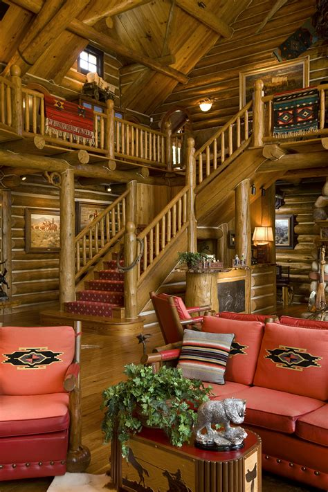 camp style lodge stairs rocky mountain homes