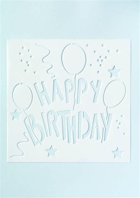 happy birthday stencils  print printable  degree