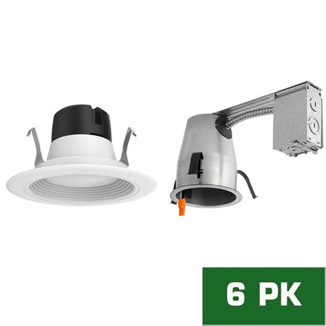 can light trim led envirolite 4 in led recessed remodel housing with