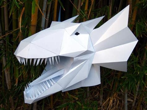 awesome  paper masks  sculptures