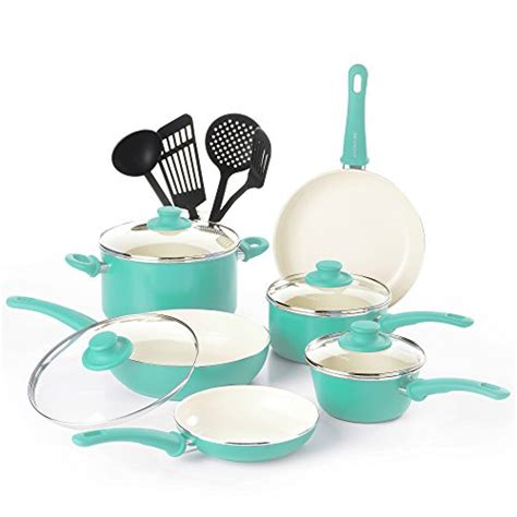 cookware glass ceramic sets stoves nonstick cooktops greenlife piece