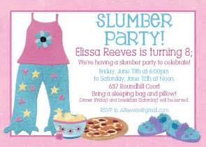 Free Printable Sleep Over Birthday Party Invitations