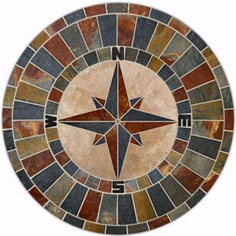 43 quot slate compass design mosaic tile