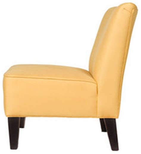 golden yellow armless chair contemporary armchairs and