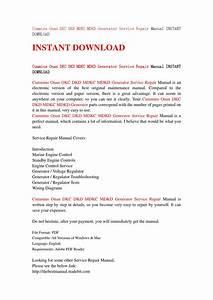 Cummins Onan Dkc Dkd Mdkc Mdkd Generator Service Repair