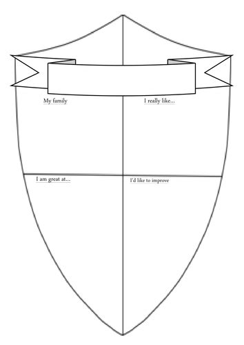 transition shield template  timcaird teaching resources