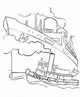 Coloring Ocean Printable Titanic Number Kleurplaat Boat Ship Boot Kleurplaten Cruise Colouring Ausmalbilder Tug Easter Oeµu Oeª Oeªu Colorier Egg sketch template