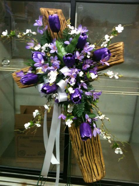 floral cross forms easter cross funeral spray flowers for you pinterest