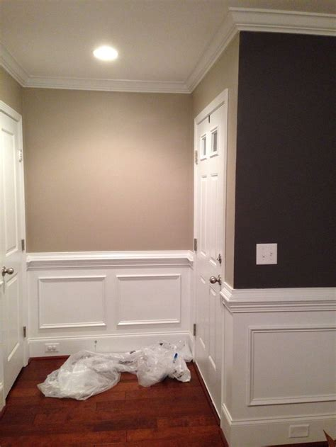 hallway color perfect greige  sherwin williams