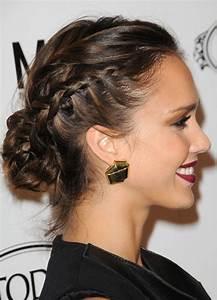 Jessica Alba Hairstyles: Elegant Messy Retro-inspired Updo ...