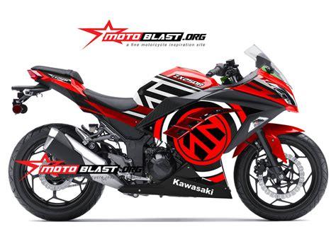 Modif Striping New Cb150r Hitam Merah by Modif Striping Kawasaki Ninja250r Fi Merah Motoblast
