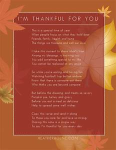 I'M THANKFUL FOR YOU