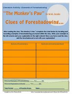 U0026quot The Monkey U0026 39 S Paw U0026quot  Elements Of Foreshadowing Chart By Ann