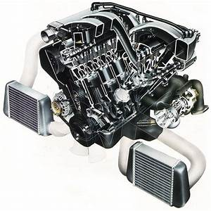 Nissan 300zx Twin Turbo Engine Cutaway Drawing In High Quality