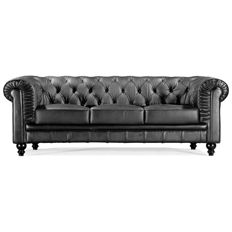 78 inch leather sofa aristocrat classic tufted leather sofa dcg stores