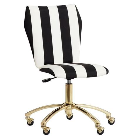 white and gold desk chair emily meritt airgo black white stripe chair