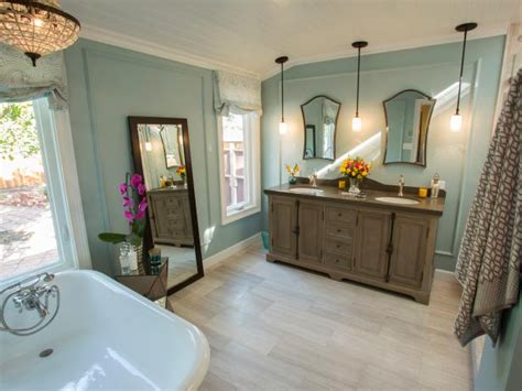 contemporary meets vintage bathroom retreat hgtv